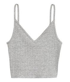 Short Jersey Camisole Top | Gray melange | Ladies | H&M US