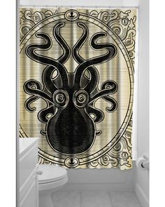Kraken Up Shower Curtain from TragicBeautiful. This is at the top of my list for my pirate themed master bathroom makeover.
