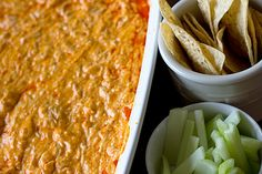 BUFFALO CHICKEN DIP- We do this just a little differently as it works better for us.  Heat the cream cheese, dressing and wing sauce until warm and smooth. Add the cooked chicken and shredded cheese and then place in a 1 qt. mini crock pot.  It's easier to transfer and keep warm this way.  Our favorite dip!