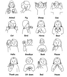 A sign language is a complete and comprehensive language of its own. It is not just some gestures which are random and used to convey a meaning. Sign language also has a set of grammar rules to go by. This language is mainly used by p Sign Language For Kids, Sign Language Phrases, Sign Language Alphabet, Learn Sign Language, Speech And Language, Baby Sign Language Chart, Non Verbal Language, Simple Sign Language, Australian Sign Language