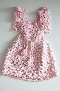 Crochet baby dress pink – Knitted sundress – crochet outfits for baby girl – cotton knitting clothes – photography accessories – props - Babykleidung Knitting Baby Girl, Baby Girl Crochet, Crochet Baby Clothes, Crochet Outfits, Prom Dress Shopping, Online Dress Shopping, Pink Sundress, Baby Clothes Patterns, Dress Patterns