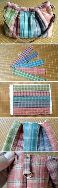 Basic Quilting and Patchwork Bag. Photo Sewing Tutorial http://www.handmadiya.com/2016/02/simple-patchwork-bag-tutorial.html