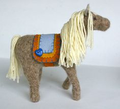 Waldorf Toy Horse 'Cricket' All Natural by BeneathTheRowanTree, $68.00