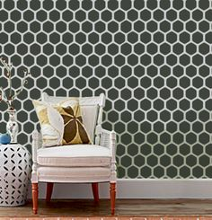 Hexagonal wall stencil