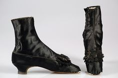 1855-65 (re-heeled?) Defossée | Evening boots | French | The Met