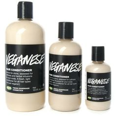 Veganese.  The conditioner I use every time I wash my hair. Smells good. Feels great.