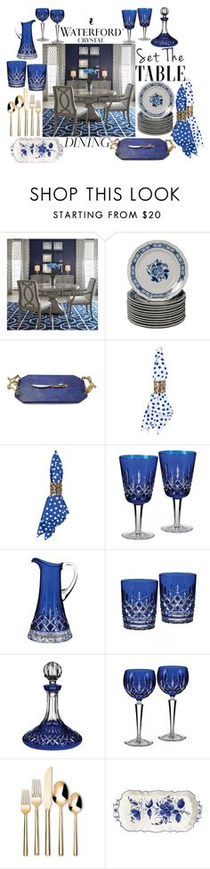 """""""Waterford Crystal"""" by summer-marin ❤ liked on Polyvore featuring interior, interiors, interior design, home, home decor, interior decorating, Michael Aram, Oscar de la Renta, Waterford and Threshold"""