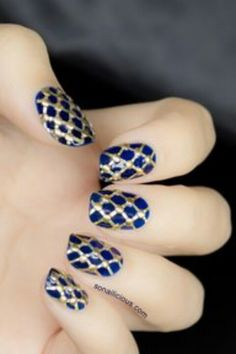 Blue and gold.. love it!!