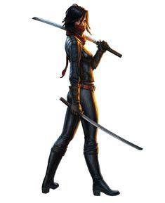 The Secret World Art & Pictures Mizuki Koga Closest I could find to Sai - hair too short Game Character Design, Character Design Inspiration, Character Art, Character Ideas, Samurai, Female Assassin, The Secret World, Sci Fi Characters, Fantasy Women