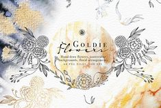 Goldie Flowers by Webvilla Design on @creativemarket