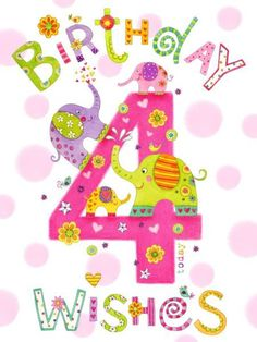 Birthday Wishes For Kids, Happy Birthday Kids, Birthday Girl Quotes, Birthday Blessings, Happy Birthday Messages, Art Birthday, Happy Birthday Greetings, Birthday Love, Birthday Greeting Cards