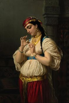 "Soyouthinkyoucansee on tumblr.Emile Vernet-Lecomte (French, 1821-1900) – ""Aime, une jeune egyptienne"""