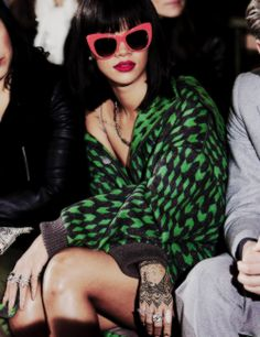 Rihanna front row at Stella McCartney