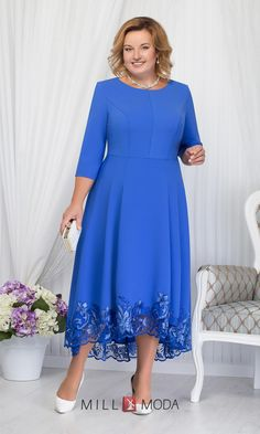 Платье Ninele 5660 василек - Scent Tutorial and Ideas Plus Size Cocktail Dresses, Plus Size Gowns, Plus Size Maxi Dresses, Nice Dresses, Casual Dresses, Formal Dresses, Mermaid Prom Dresses Lace, Lace Dress, Marine Uniform