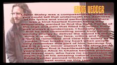 EDDIE VEDDER COMMENTS ABOUT LAYNE STALEY