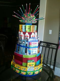school supply cake images - Google Search