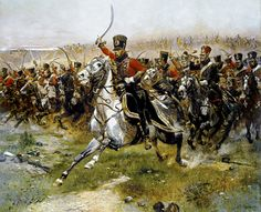 June 14, 1807- Battle of Friedland. Charge of the French 4th Hussars...Napoleon I's French army decisively defeat Count von Bennigsen's Russian army about twenty-seven miles (43 km) southeast of Königsberg. The site of Friedland, in the Russian Kaliningrad Oblast since 1945, received the new name of Pravdinsk in that year.