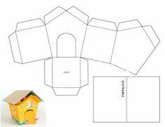 CAIXAS - Idéias e passo a passo - Eliane Dantas - Picasa Webalbumok - little house template