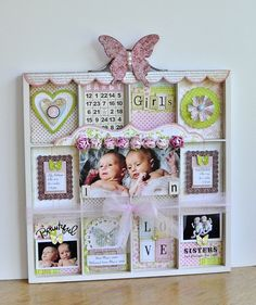 Twin Baby Girls Printer's Tray ~The Girls' Paperie - Two Peas in a Bucket