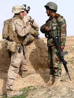 Marines patrol with ANA  by United States Marine Corps Official Page, via Flickr