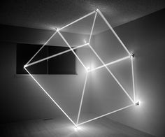 James Nizam - Thought Form (Cube), Contemporary, Conceptual, Black and White Photograph Neon Lighting, Interior Lighting, Lighting Design, Instalation Art, Design Salon, Design Art, Light Images, Light Beam, Purple Aesthetic