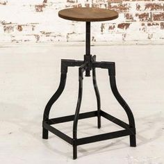 Draftsman Iron Stool - Industrial Furniture
