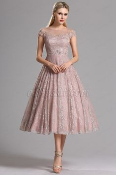 eDressit Rosy Brown Illusion Neckline Lace Prom Cocktail Dress (04161746)