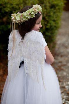 Un bello ángel en el boda.