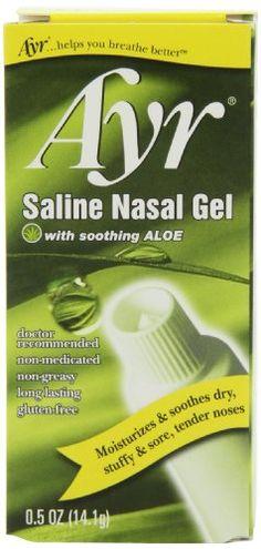 Ayr Saline Nasal Gel, With Soothing Aloe, 0.5 Ounce Tube - http://darrenblogs.com/2016/01/ayr-saline-nasal-gel-with-soothing-aloe-0-5-ounce-tube/