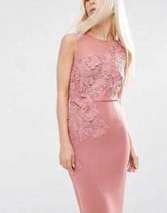 ASOS | ASOS Flower Scuba Midi Pencil Dress