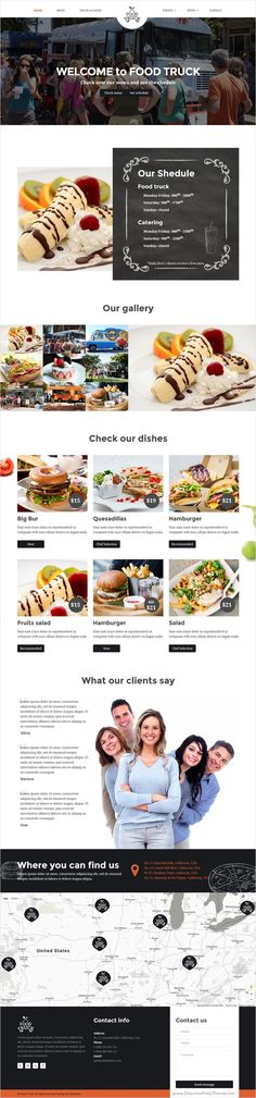 Food Truck is a perfect #bootstrap HTML #template for all #Food truckers, #Street vendors and small food businesses website download now➩ https://themeforest.net/item/food-truck-food-truck-and-restaurant-responsive-html-template/18339431?ref=Datasata