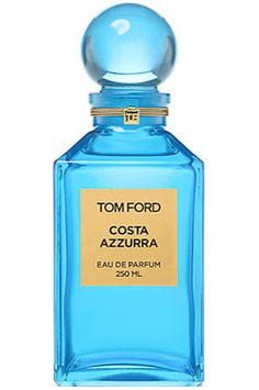 Costa Azzurra Tom Ford for women and men...Top notes are seaweed, driftwood, agarwood (oud), ambrette (musk mallow), celery seeds and cardamom; middle notes are juniper, myrtle, lavender, lemon, yellow mandarin and artemisia; base notes are mastic or lentisque, olibanum, incense, vanilla, vetiver and oak.