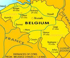 Gastronoma de Blgica Belgium map and Belgium