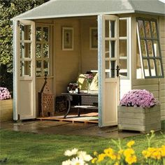 Perennial Flower Gardening - 5 Methods For A Great Backyard Chatsworth Summerhouse Garden Room - Gazebo Direct Garden Cabins, Garden Gazebo, Backyard Gazebo, Garden Sheds, Summer House Garden, Home And Garden, Summer Houses, Summer House Interiors, Backyard Cottage
