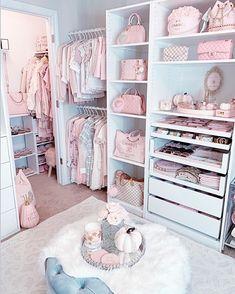 Room Design Bedroom, Room Ideas Bedroom, Girls Bedroom, Bedroom Decor, Bedrooms, Pink Closet, Wardrobe Room, Dressing Room Design, Aesthetic Bedroom
