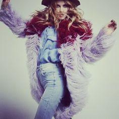 Mukhina in Walk Of Shame fur coat