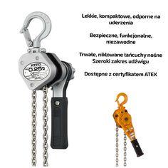 Wciągniki ręczne KITO - lekkie, kompaktowe i odporne na uderzenia