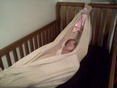 diy   baby hammock   no sewing involved  cost    0 00 sice i had a baby hammock  great instructions and i love that this one shows      rh   pinterest