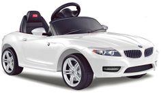 Kinderwunsch Nr. 1 ein eigenes Auto. So wie Papa!  Der Sportliche BMW Z4 Cabrio in strahlendem weiß verzaubert jedes Kind.  Elektromotor und Fernbedienung - Elektrokinderfahrzeug  www.cars-4-kids.de