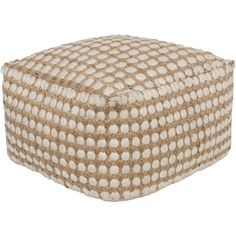 A beachy, polka dot ottoman to kick your feet up on and enjoy your afternoon with a cold drink in hand. Pair with darker wood pieces and coastal d?cor.