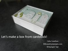 How to Make a Box with Card Stock and clear acetate.