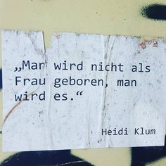Heidi Klum Zitat an ner Altkleidersammlunna wenn das nicht passend ist. #notesofberlin #genderkacke #berlin #zitate