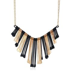 Statement Alloy Geometric Fringed Necklace ($3.83) ❤ liked on Polyvore featuring jewelry, necklaces, geometric jewelry, fringe jewelry, fringe necklaces and geometric necklace