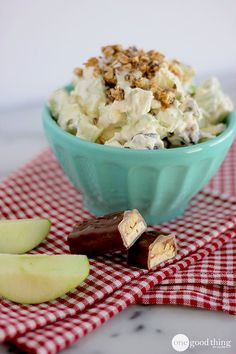 "Sounds so wrong…..but tastes so good! :-) Not too long ago a friend at work was asking for suggestions on something quick she could throw together for a church potluck she was going to that night.  The first thing that popped into my head was ""Snickers Salad""!  (I must have been craving chocolate or something).  I …"