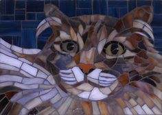 stained glass mosaic by Christine Brallier