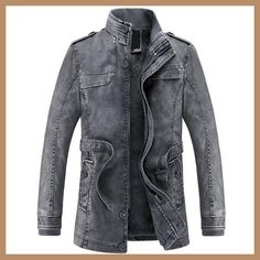 240a57d3f4265d 2017 Jacket men Slim Warm mens washed Leather Motorcycle Biker Jackets  Standing Collar Coat jaqueta masculina