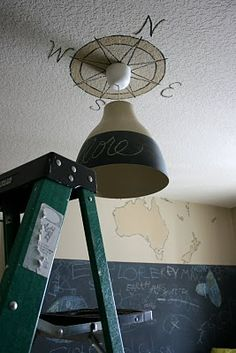 Isabella & Max Rooms: Painting A Compass Ceiling Medallion - Big Boy's Bedroom