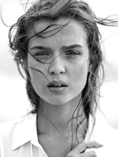 Woman, female, powerful, natural beauty, intense, face, portrait, beauty, stunning, photograph, photo b/w.