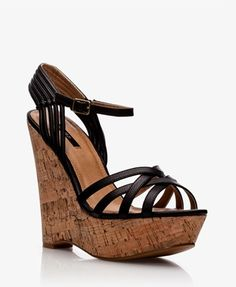 High Hopes Faux Leather Cork Wedge Sandals FOREVER21 Summer NewArrival Heels Shoes MustHave 4879 |2013 Fashion High Heels|