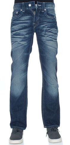 True Religion Mens Straigh Leg Jeans Size 32 in Rogue NWT $251 #TrueReligion #ClassicStraightLeg